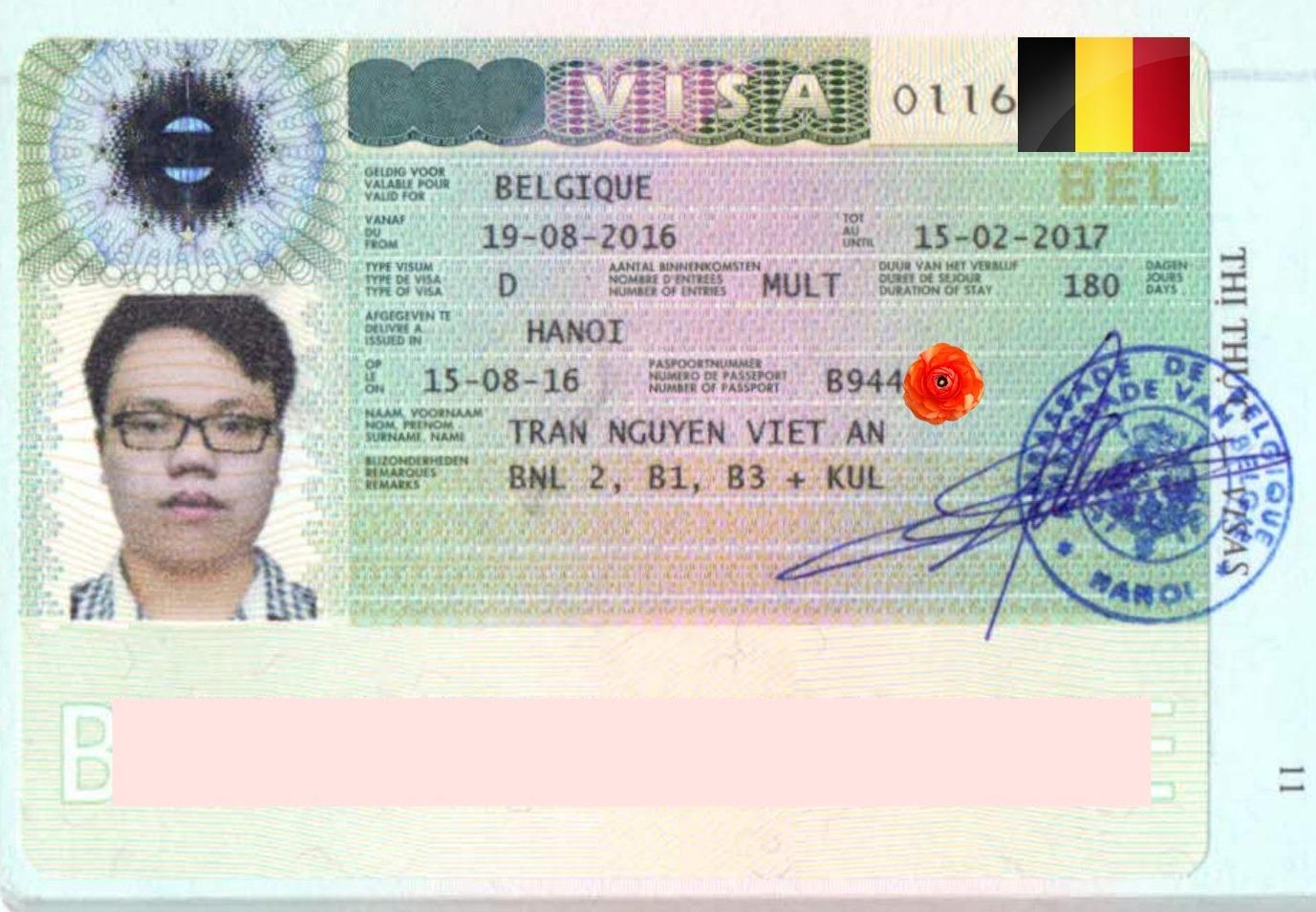 Chúc mừng bạn Trần Nguyễn Việt An nhận được visa du học Bỉ kì mùa thu năm học 2016-2017.