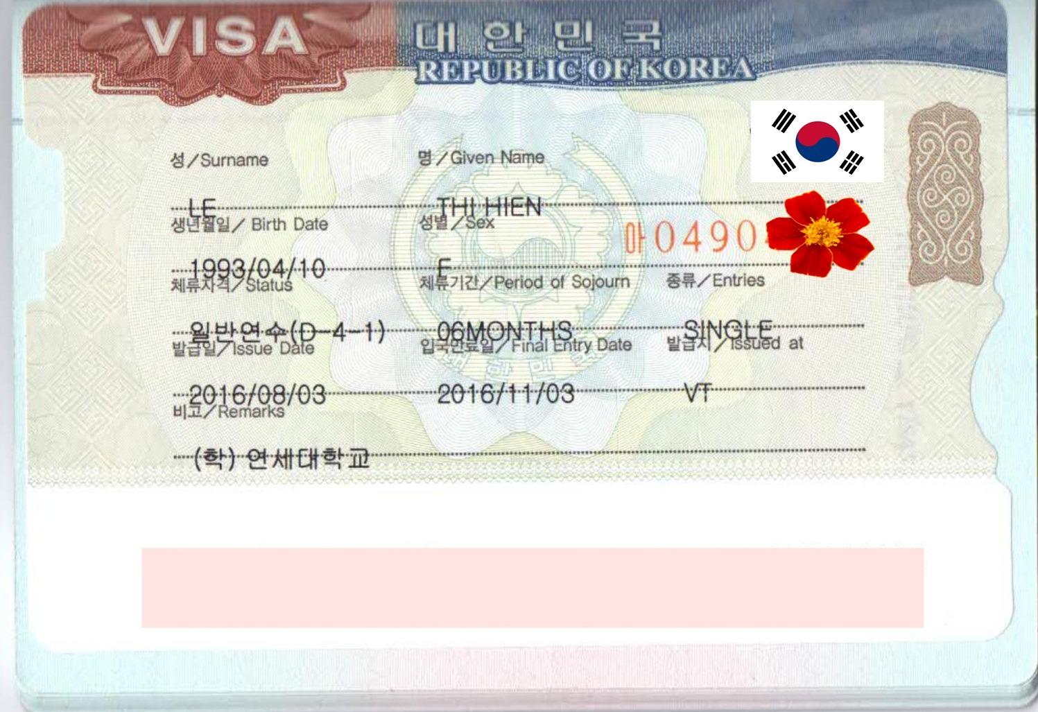 Chúc mừng bạn Lê Thị Hiền nhận được visa du học  Hàn Quốc kì tháng 9.2016.