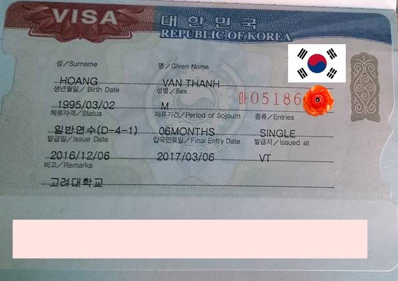Chúc mừng bạn HOÀNG VĂN THÀNH đạt visa du học TRƯỜNG ĐẠI HỌC KOREA kỳ tháng 12/2016
