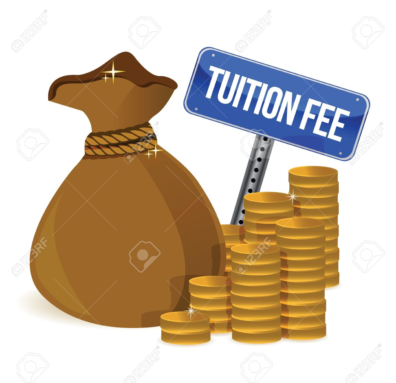 17823496-bag-with-tuition-fee-illustration-design-over-a-white-background-stock-vector
