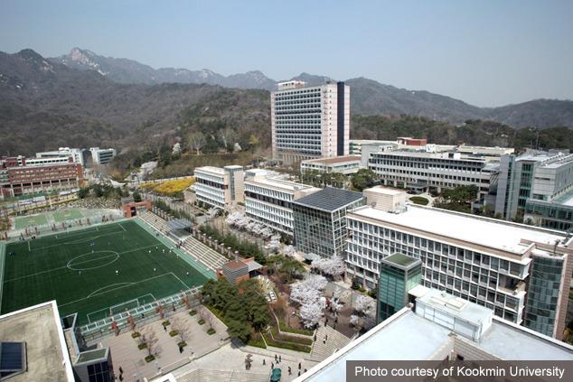 Không gian trường đại học Kookmin