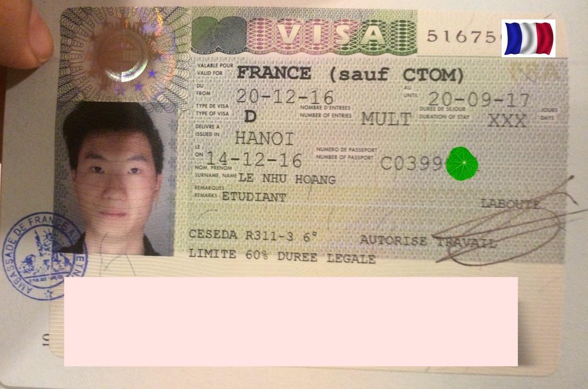 Chúc mừng bạn Lê Như Hoàng nhận được visa đi du học Pháp