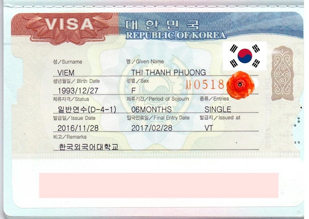 Chúc mừng bạn Viêm Thị Thanh Phương đã nhận được visa Du học Hàn Quốc kỳ t12/2016