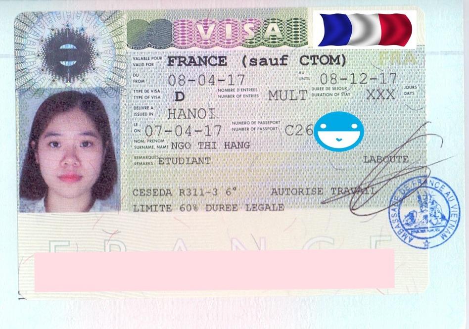 Chúc mừng bạn Ngô Thị Hằng nhận được visa du học Pháp