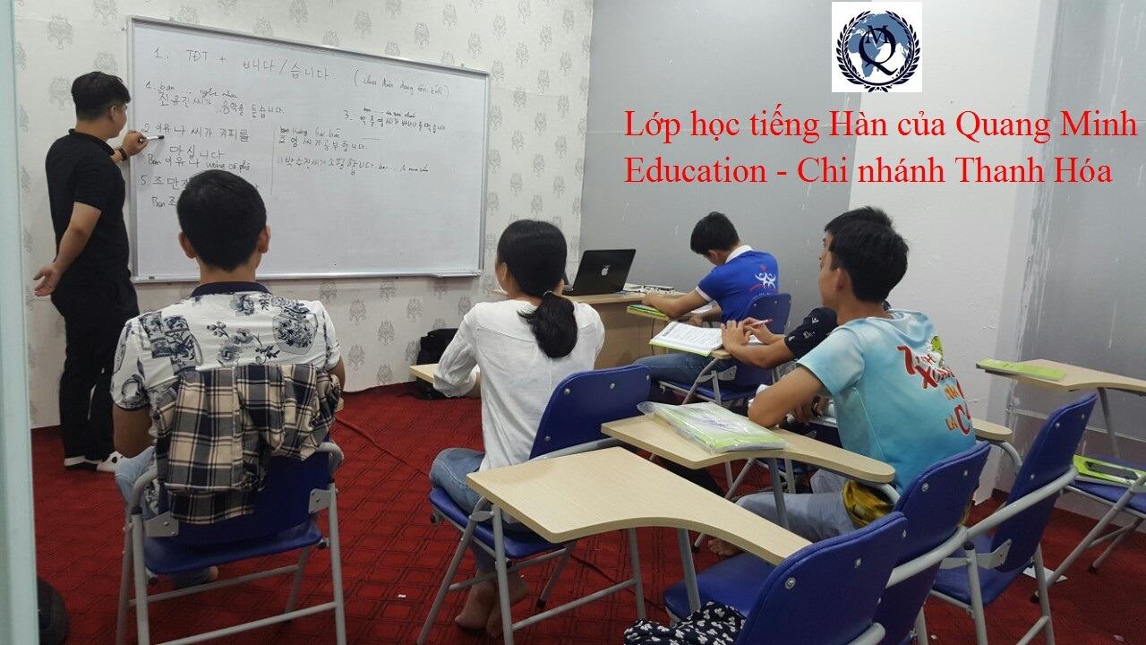 Thông báo tuyển sinh các lớp học tiếng Hàn tại Quang Minh Education