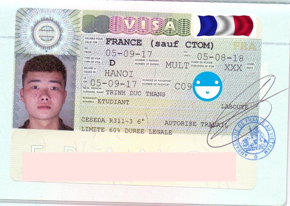 Chúc mừng bạn Trịnh Đức Thắng đã nhận được visa du học Pháp vô cùng ngoạn mục