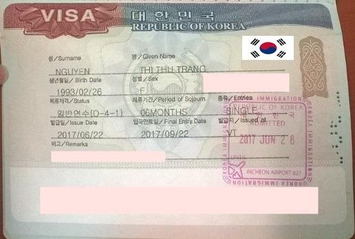 Chúc mừng bạn Nguyễn Thị Thu Trang đã nhận được visa du học Hàn Quốc kỳ tháng 6/2017