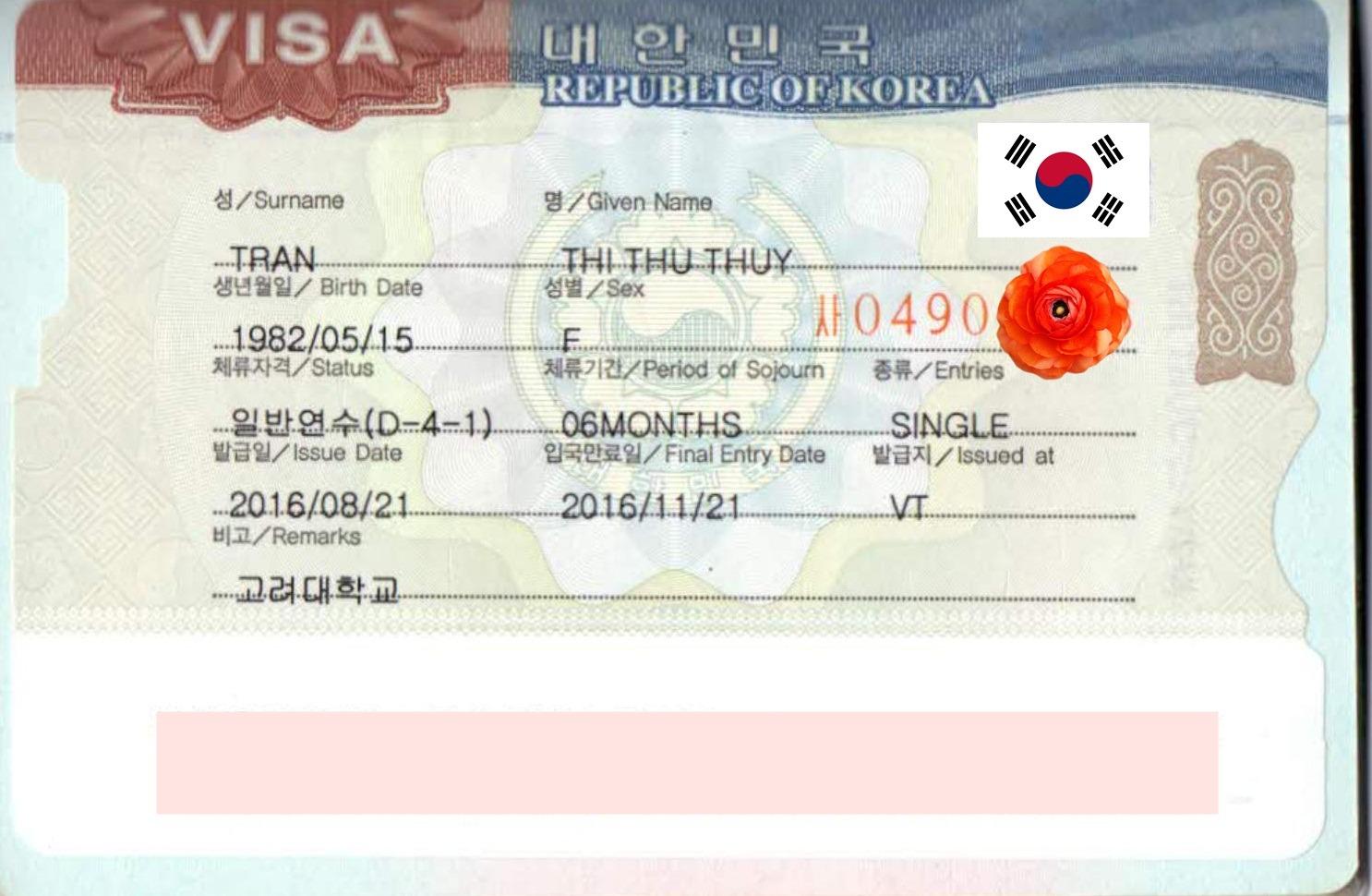 Chúc mừng bạn Trần Thị Thu Thủy sinh năm 1982  nhận được visa du học  Hàn Quốc kì tháng 9.2016