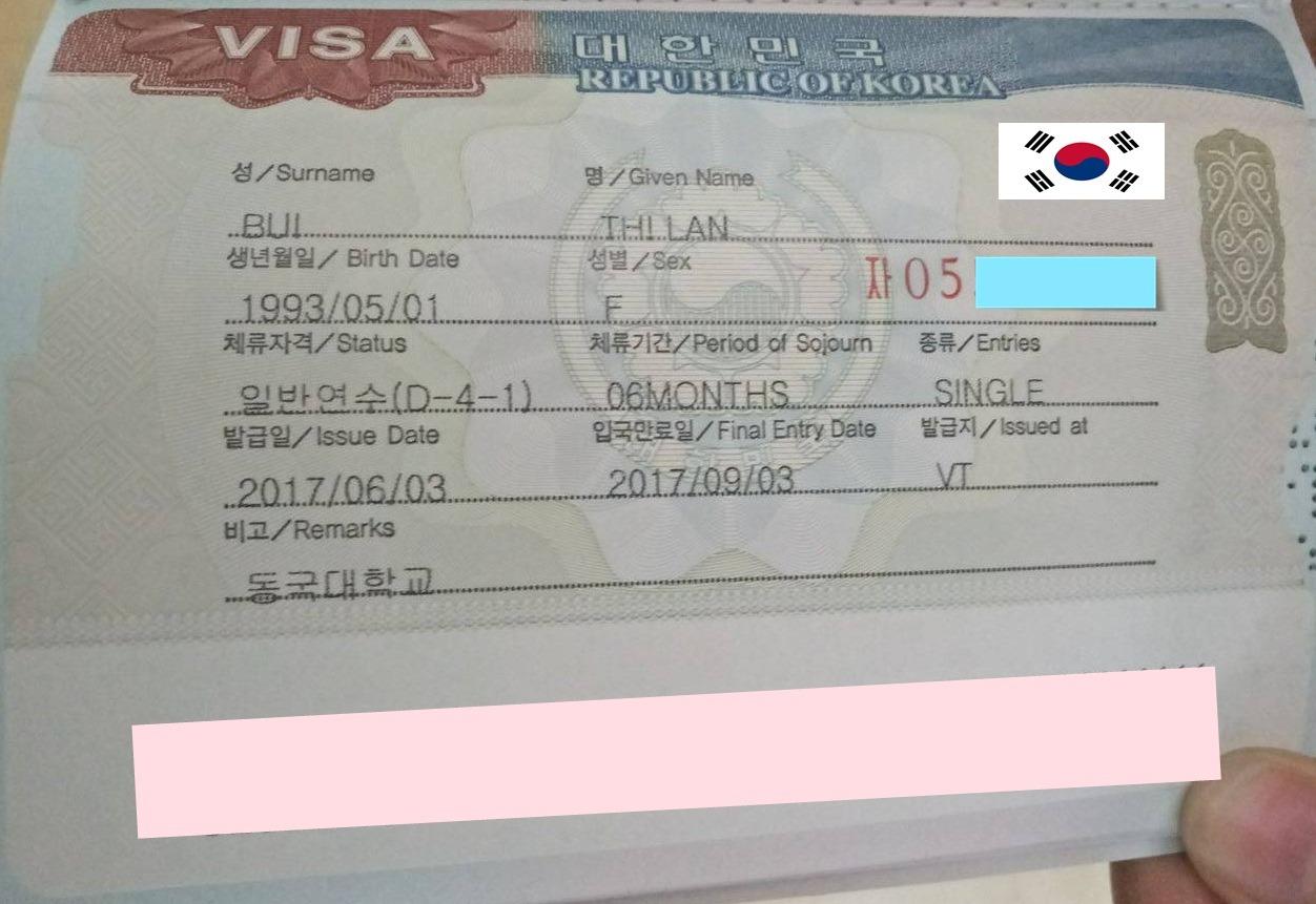 Chúc mừng bạn Bùi Thị Lan nhận được visa du học Hàn Quốc kỳ tháng 6/2017