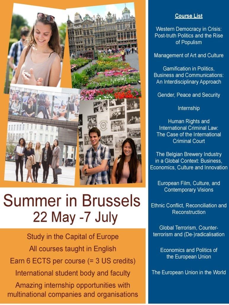 Chương trình Summer school tại Vrije Universiteit Brussel ( VUB)