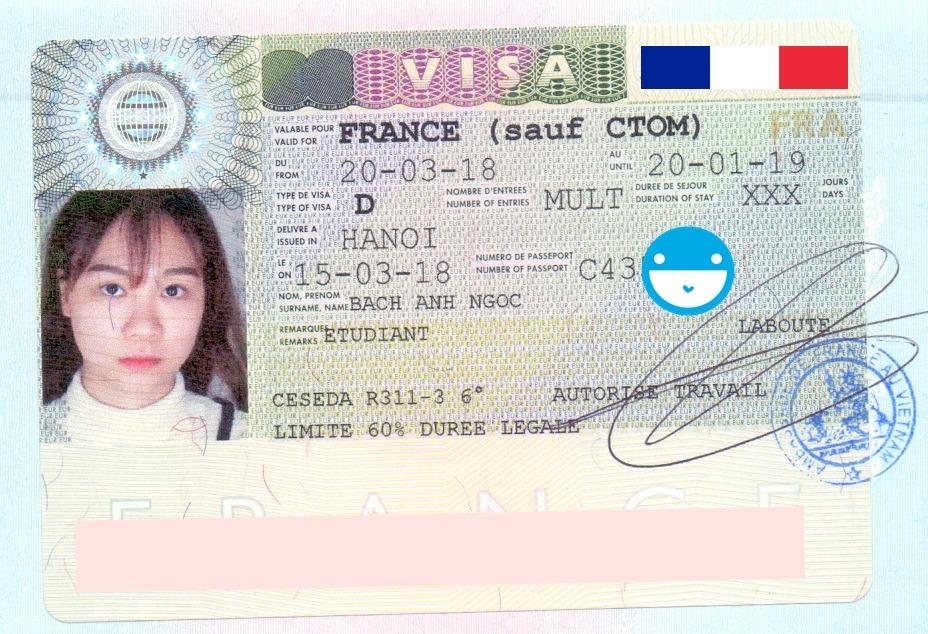 Chúc mừng bạn Bạch Ánh Ngọc đã nhận được visa Du học Pháp