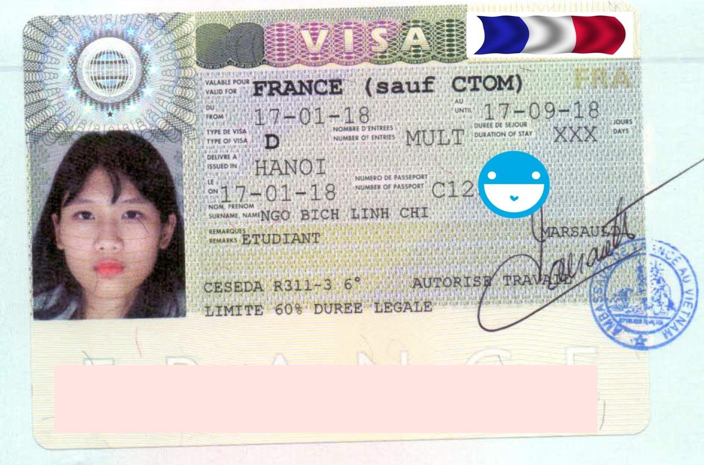 """Chúc mừng """"Cô bé hạt tiêu"""" Ngô Bích Linh Chi đã nhận được visa Du học Pháp 2018"""