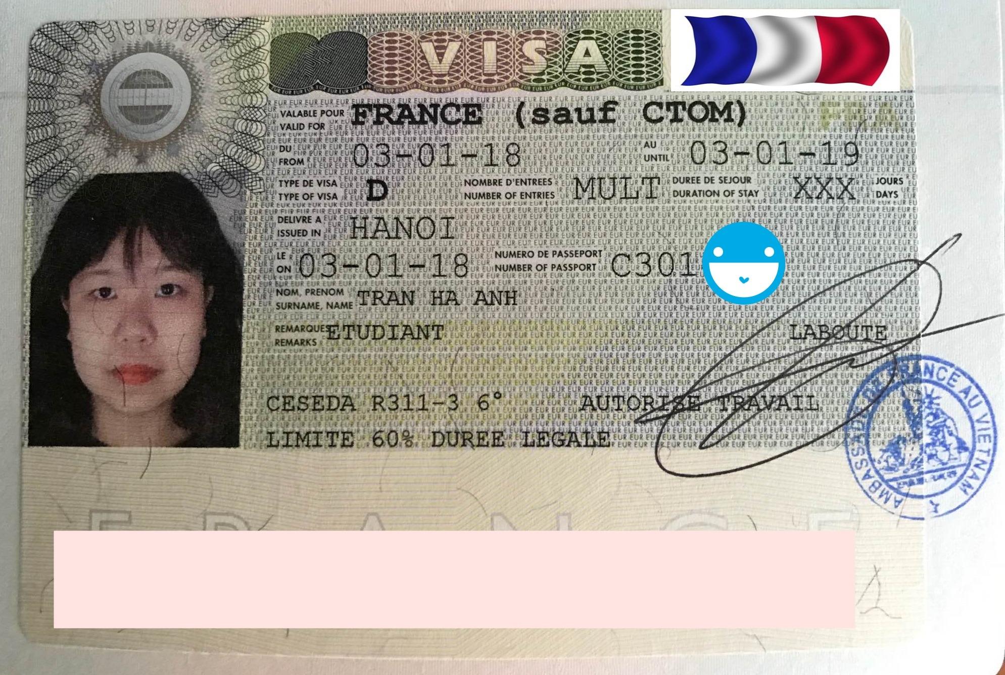 Rực rỡ đầu năm mới với visa du học Pháp dành cho bạn Trần Hà Anh