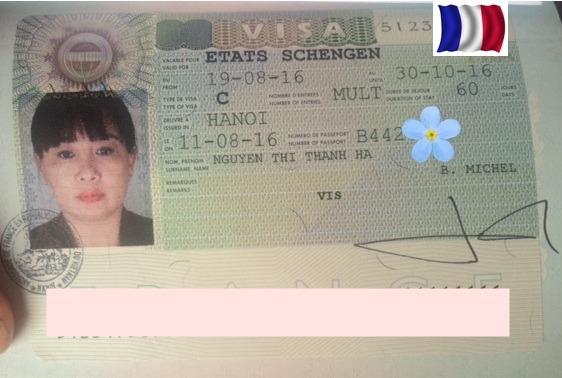Chúc mừng cô Hà và chú Chính đạt visa thăm thân  đi Pháp