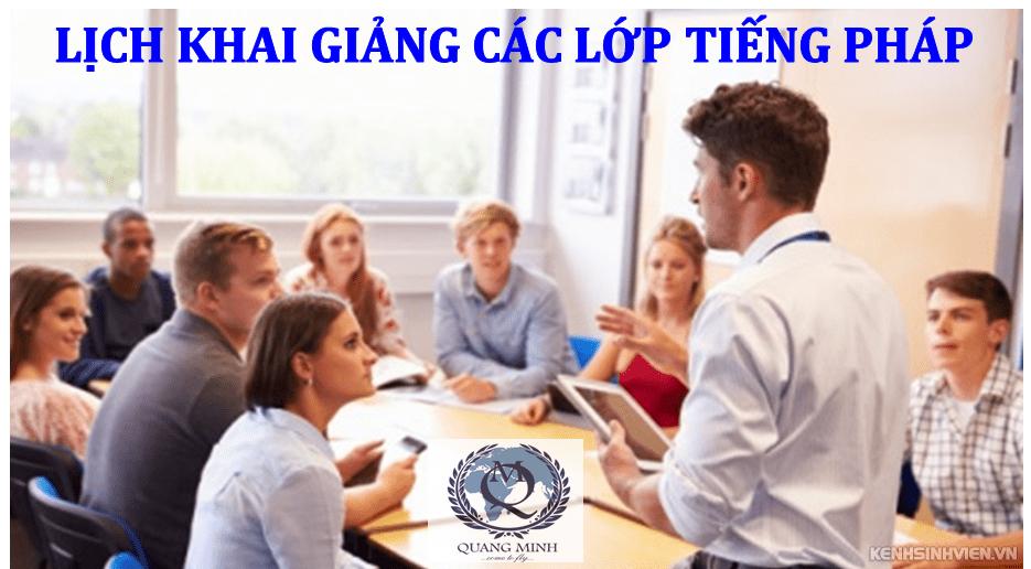 Khai giảng lớp tiếng Pháp tháng 4/2017