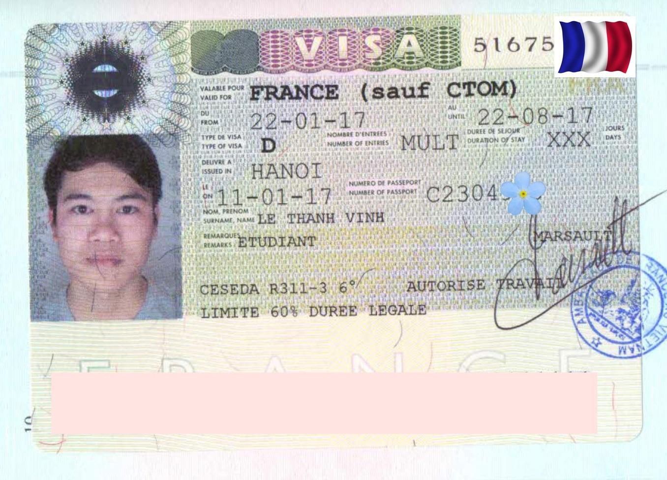 Chúc mừng bạn Lê Thanh Vĩnh nhận được visa Du học Pháp