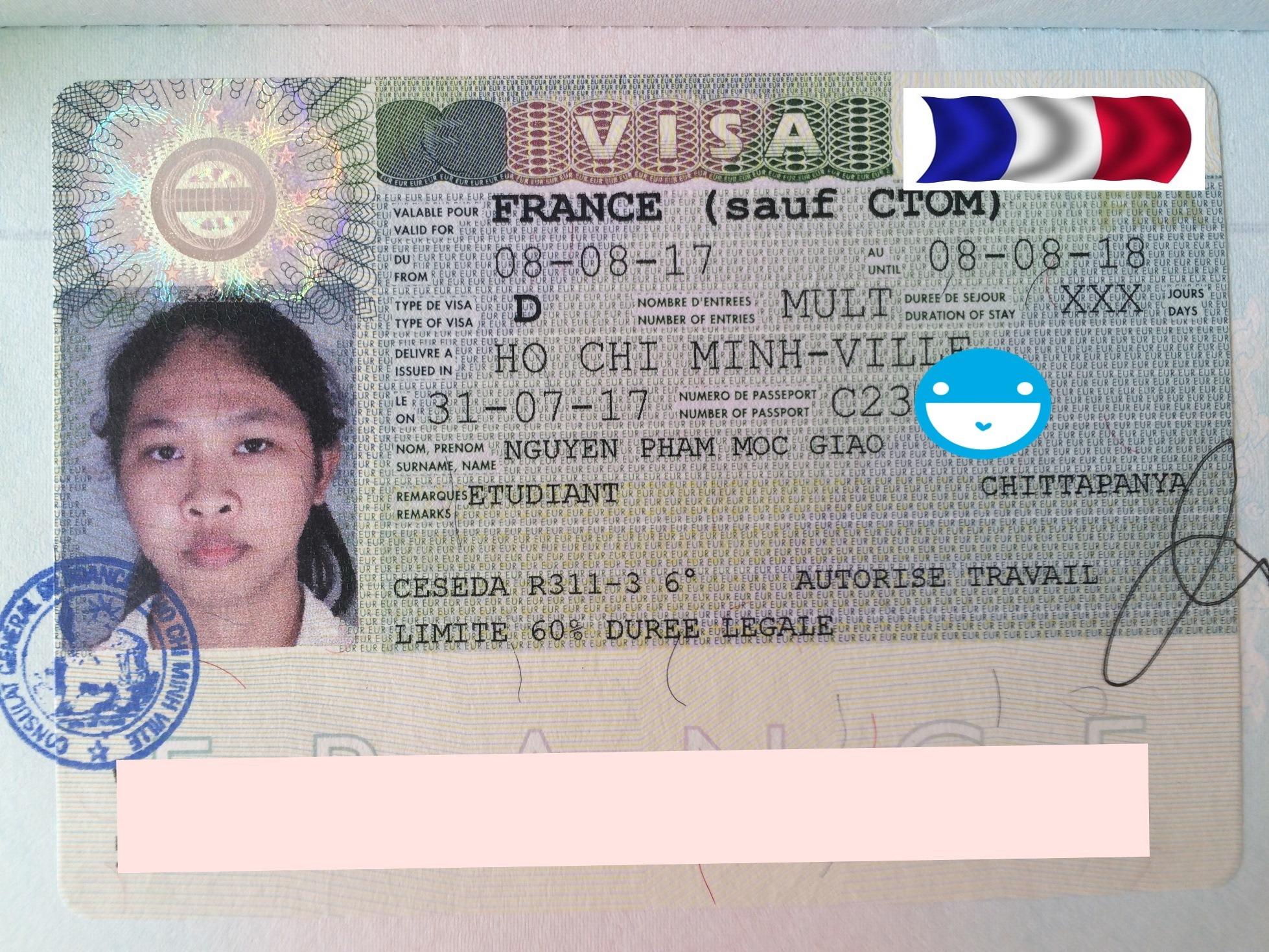 Chúc mừng bạn Nguyễn Phạm Mộc Giao nhận được visa du học Pháp