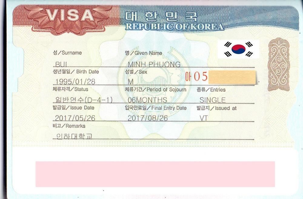 Chúc mừng bạn Bùi Minh Phương nhận được visa du học Hàn Quốc kỳ tháng 6/2017