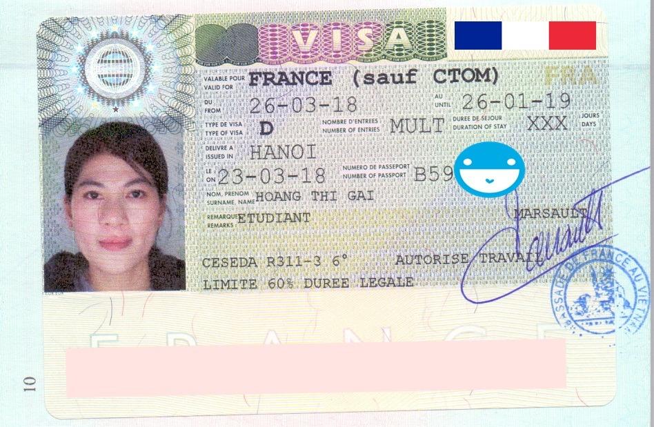 Chúc mừng bạn Hoàng Thị Gái đã nhận được visa Du học Pháp 2018